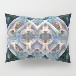 Abstract Multi-Colored Fractal (Night) Pillow Sham