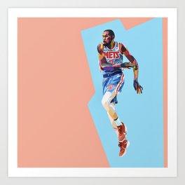 Slim Reaper KD #7 Basketball Player Art Print