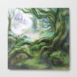 Forest Castle Metal Print