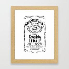 Grog Strongjaw Co. (Black) Framed Art Print