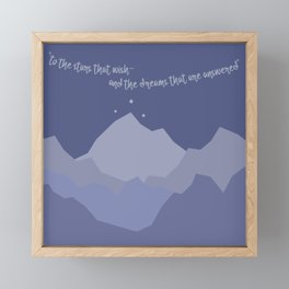 ACOTAR - To the Stars That Wish Framed Mini Art Print