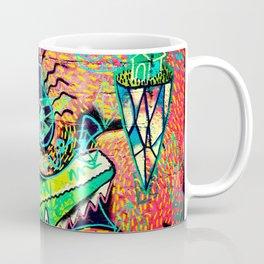 Alligator Wrestling With Cat Painting Coffee Mug