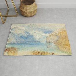"J.M.W. Turner ""The Lake of Lucerne from Fluelen"" Rug"