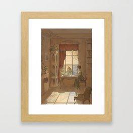 Jane Austen, Mansfield Park - the East Room Framed Art Print