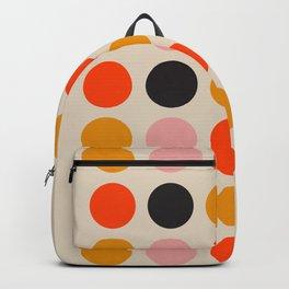 Retro Bauhaus Dots   70s European Pattern Backpack