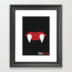 True Blood - Minimalist Framed Art Print