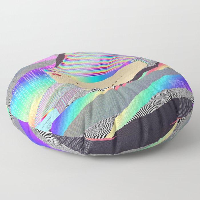 Error Tab Vaporwave Floor Pillow