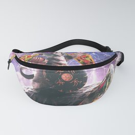Lazer Warrior Space Cat Riding Turtle Eating Taco Fanny Pack