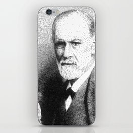 Sigmund Freud (Pen Pointillism) iPhone Skin