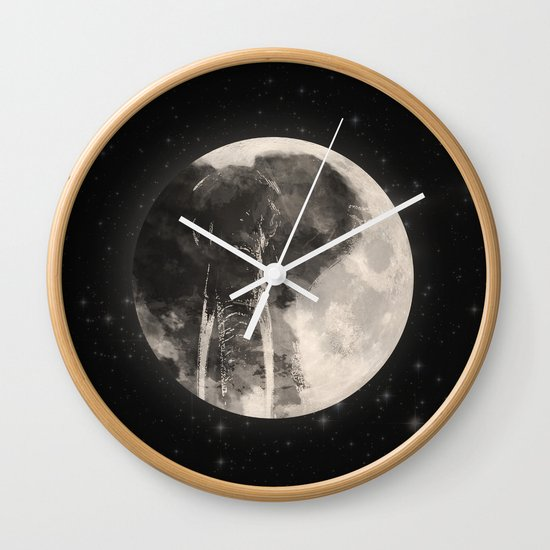 The Elephant in The Moon Wall Clock