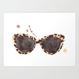 Tortoiseshell Sunglasses Art Print