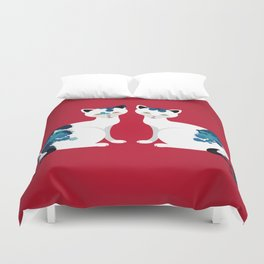 Two's Trouble Duvet Cover