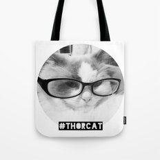 Hipster Thor Cat Tote Bag