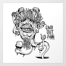 Chill Out Man Art Print
