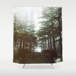 I will follow you into the dark. Shower Curtain