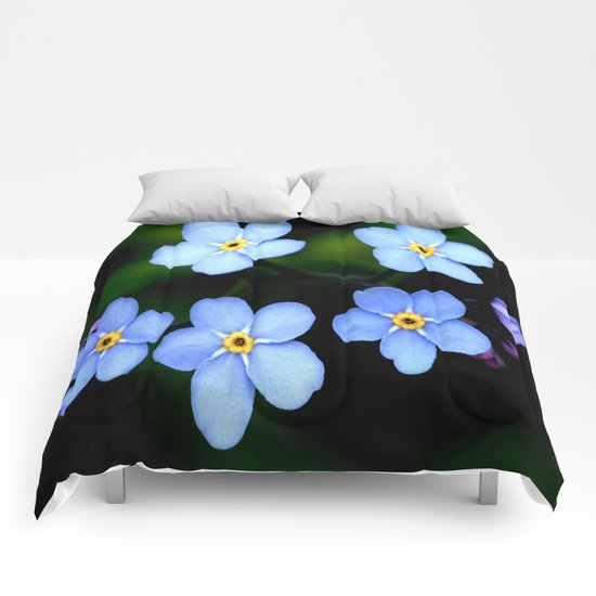 Tiny Blue Flowers Comforters