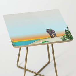 Explore Michigan Lovers Side Table