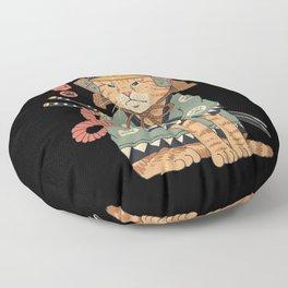 Neko Samurai Floor Pillow