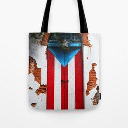 PUERTO RICO FLAG DOOR Tote Bag
