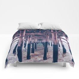 Balboa Pier Print {2 of 3} | Newport Beach Ocean Photography Magenta Summer Sun Wave Art Comforters