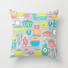 atomic kitchen Throw Pillow