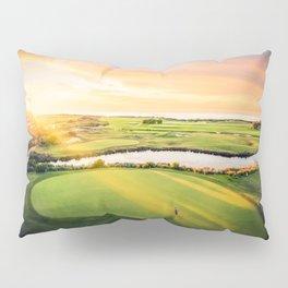 Golfing at the 'Gong Pillow Sham