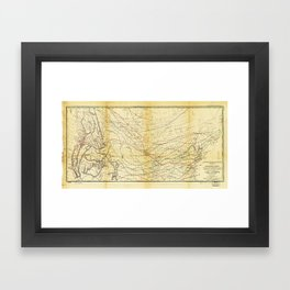 Isothermal Chart North of the 36th Parallel between the Atlantic & Pacific Oceans (1859) Framed Art Print
