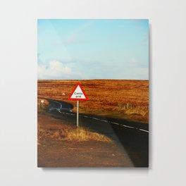 follow the road Metal Print