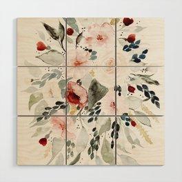 Loose Watercolor Bouquet Wood Wall Art