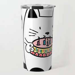 Happy Birthday - CAT WITH CAKE Travel Mug