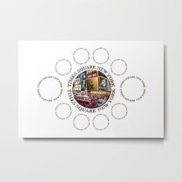 Times Square New York City (multi badge emblem) Metal Print