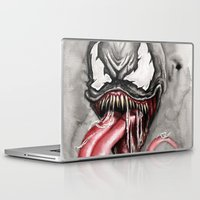 venom Laptop & iPad Skins featuring venom by rchaem
