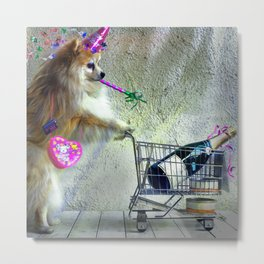 Cute Little Party Animal Metal Print