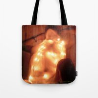 champagne Tote Bags featuring Champagne by Synapse Shots - Matthew Cetta
