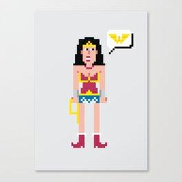 Pixel Wonder Wo man Canvas Print
