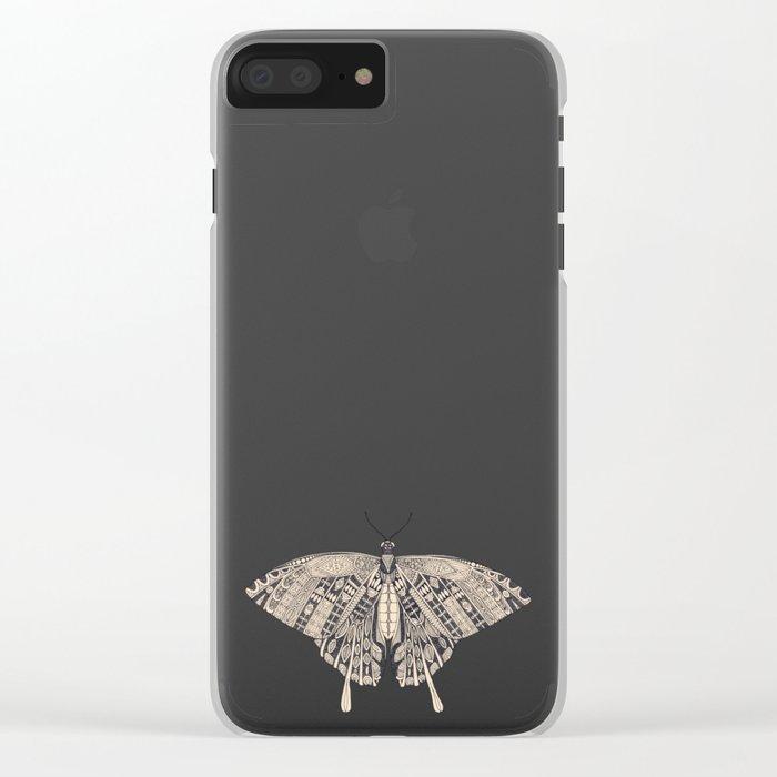 swallowtail butterfly citron basalt Clear iPhone Case