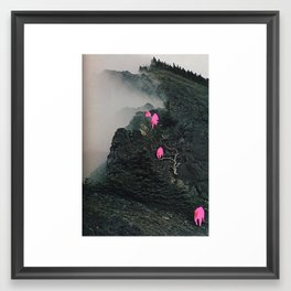 Lava Mountain Goats Framed Art Print