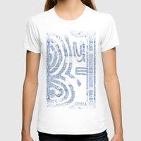 plain T-shirts featuring Blue Inhabited Plain by Ben Geiger