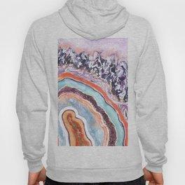 Amethyst Crystal Quartz Slice Painting Hoody