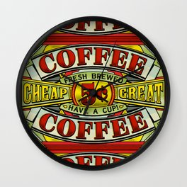 Coffee Sign Wall Clock