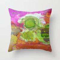 safari Throw Pillows featuring Safari by Heather Plewes Art