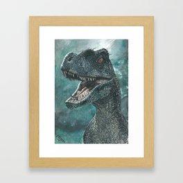 Jurassic Raptor Framed Art Print