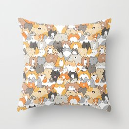 Cats, Kitties and a Spy Throw Pillow