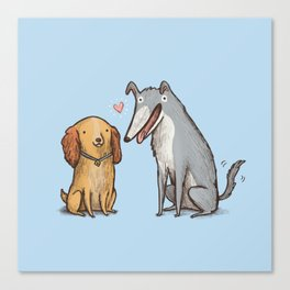 Lady & the Tramp Canvas Print