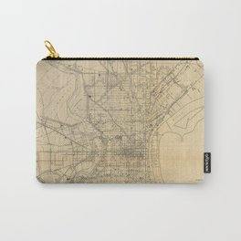 Vintage Philadelphia Railroad Map (1911) Carry-All Pouch