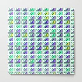 Dollar Pattern 18 Metal Print