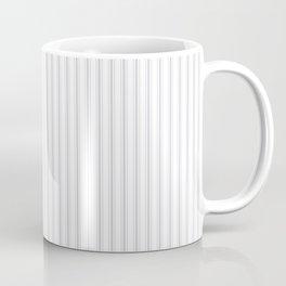 Soft Grey Mattress Ticking Narrow Striped Pattern - Fall Fashion 2018 Coffee Mug