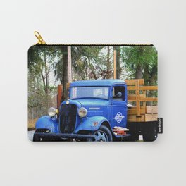 Blue Aged Truck Carry-All Pouch
