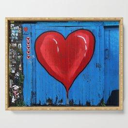 Graffiti Love Heart Serving Tray