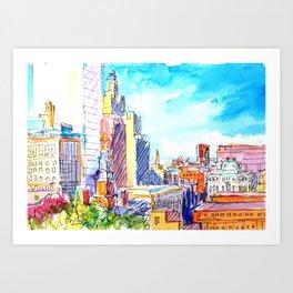 Rooftops, Providence, RI, from Prospect Park Art Print